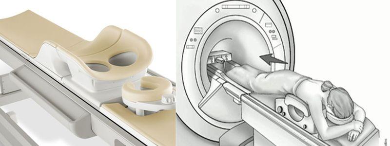 Положение пациента при помещении в томограф