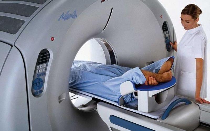 Процесс обследования на томографе