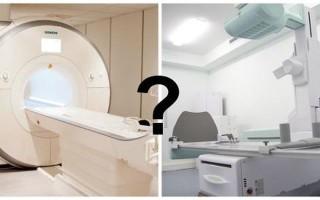Сравнение рентгена и магнитно-резонансной томографии