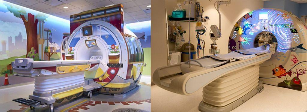 Варианты оформления томографов для детей